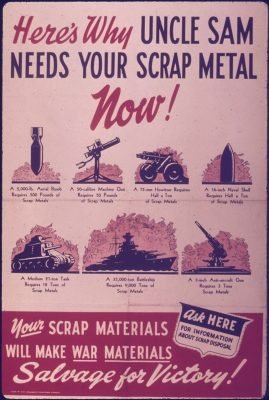 """Here's Why Uncle Sam Needs Your Scrap Metal Now!"", National Archives and Records Administration 514483"