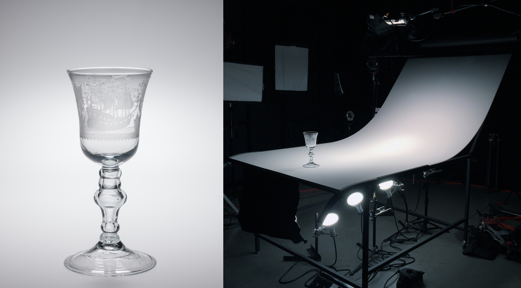 Here the object has been placed on the table with broad soft backlighting and an & Photographing glass: Lighting techniques for transparent glass ...