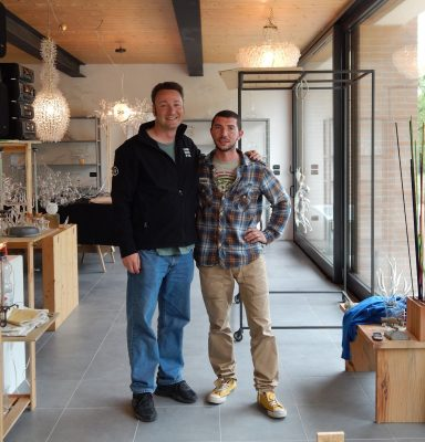 Me, Simone, and his beautiful, newly renovated home and studio.