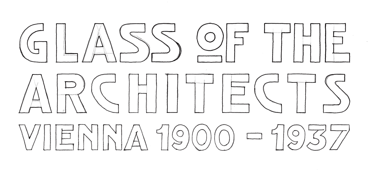 Hand-drawn logo for Glass of the Architects.
