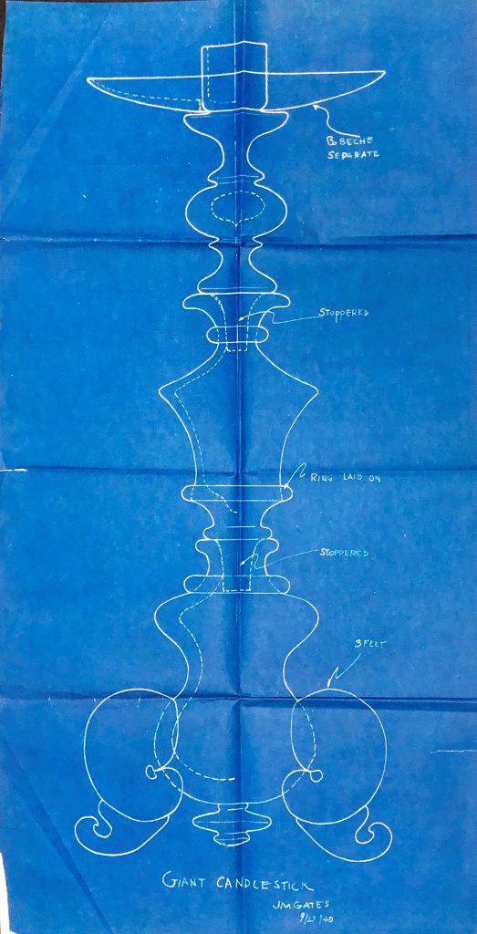 Candlestick blueprint before treatment.