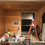 Dressing Room for a Star began as a plywood room.