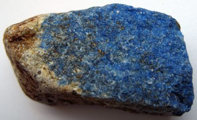 Blue stone with small specks of gold