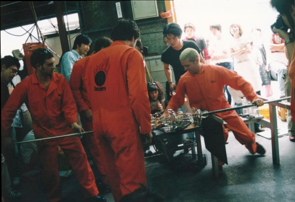 Evan Snyderman, Jeff Zimmerman, Thor Bueno, and Zesty Meyers, Japan tour, 1998