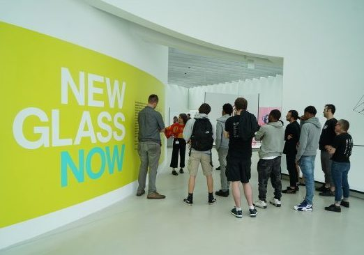 Expanding Horizons group given a tour of New Glass Now by CMoG curator Susie Silbert